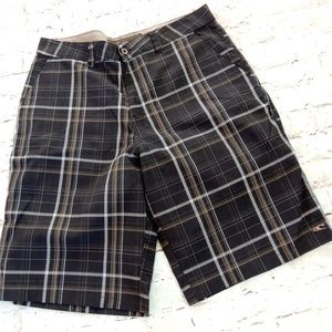 Oneill Shorts Size 34 Brown Plaid